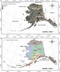 Map Of State by A Location Map Of State Of Alaska Showing Elevation Range