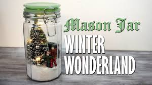 diy mason jar winter wonderland snowglobe scene homemade