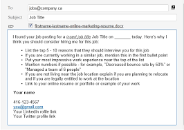 sample of job application cover letter email job application email