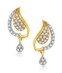 peacock design earrings vk jewels peacock design gold and rhodium plated earrings buy vk
