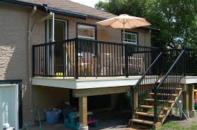 Deck Stair Handrail Vinyl Outdoor Stair Railing Home Design By Larizza