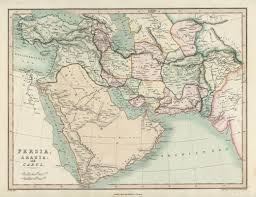 Map Of Middle East And Africa by Antique Print Club Antique Africa Middle East Maps Old Maps Of