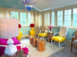 Hgtv Designer Portfolio Living Rooms - funky modern rustic natural wood with bright colors and bold
