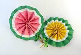 diy fans simple diy fruit fans creative child