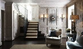 Shabby Chic Wall Sconces Decorate Stair Wall Family Room Shabby Chic Style With Distressed