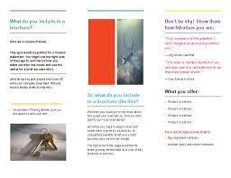 tri fold brochure template microsoft word templates