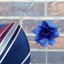 lapel flower handmade dahlia lapel flower royal blue hubkiz
