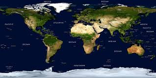 the map of the earth physical earth satellite image map wall mural w labels and borders