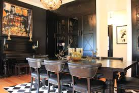 black dining rooms the black house natural modern interiors