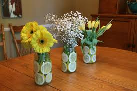 jar vases jar vases with lemon slices jar crafts