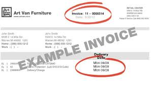 Art Van Desks by Delivery Tracking Example Invoice Jpg