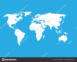 Map With State Names by Political Vector World Map With State Name Labels White Land With