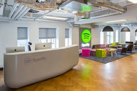 Corian Reception Desk Thermoformed Corian Spotify Reception Desk Counter Production Ltd