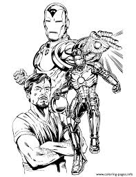 Tony Stark And Iron Man Coloring Pages Printable Coloring Page Iron