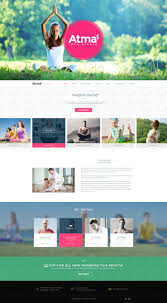 website homepage design yoga training website main page homepage design by madanpatil on