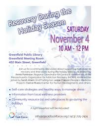 recovery during the holidays massachusetts substance use helpline