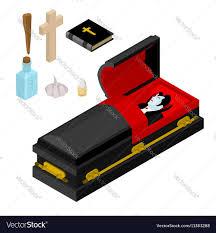 black casket dracula in coffin vire count in black casket vector image