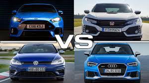 honda civic sportback 2017 volkswagen golf r vs 2016 ford focus rs vs 2018 honda civic