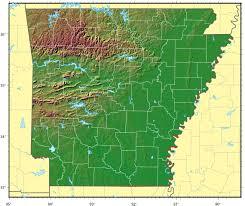 Relief Map Arkansas Relief Map U2022 Mapsof Net