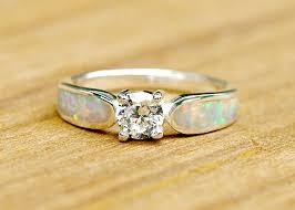 engagement ring wedding ring opal ring geode ring october