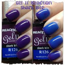gel ii reaction polish u2013 shark bite u2013 swatches and review