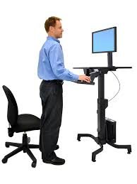 Sit Or Stand Desk by Amazon Com Ergotron 24 280 926 Workfit Pd Sit Stand Desk With
