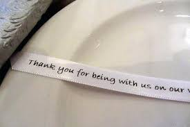 printed ribbons for wedding favors your personalized wedding