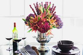 how to make a floral centerpiece with edible grape skewers 10