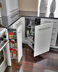 Pull Out Drawers In Kitchen Cabinets Blind Corner Cabinet Design Pull Out System Outofhome