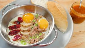 cuisine re pan eggs breakfast style ไข กระทะ kitchen food