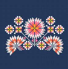 floral cross stitch machine embroidery design machine embroidery