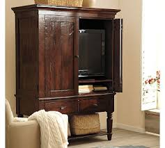 bedroom armoire tv pretty tv armoire from pottery barn i like the aged look of the
