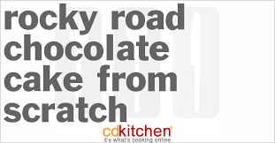 rocky road chocolate cake from scratch recipe from cdkitchen com