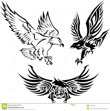tribal eagle tattoos stock vector image of illustrator 39047655