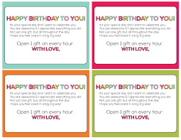 s birthday gift birthday on the hour gift idea printable
