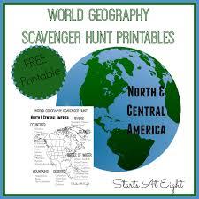 world geography scavenger hunt north u0026 central america free