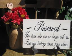 rustic wedding sign memorial reserved for by dlightfuldesigns