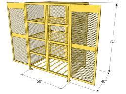 Horizontal Storage Cabinet Gas Cylinder Cage 12 Propane Tanks Horizontal Storage Cbch120jp