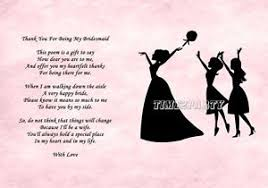 will you be my bridesmaid poem a4 thank you to my bridesmaid poem wedding day thank you gift