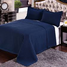Navy Quilted Coverlet Best Navy Quilt Set Queen Products On Wanelo