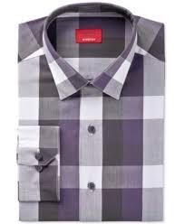 alfani men u0027s slim fit stretch black window check dress shirt only