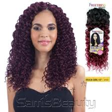 crochet black hair photos freetress synthetic hair crochet braids beach curl 12 samsbeauty