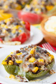 thanksgiving stuffing for two stuffed peppers recipe tex mex flavored peppers stuffed with