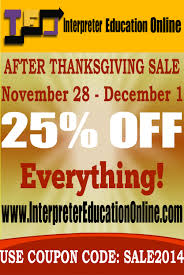 ieo after thanksgiving sale interpreter education