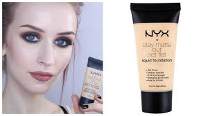 light foundation for dry skin nyx stay matte but not flat foundation review demo pale dry