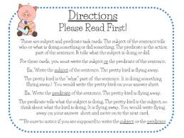subject and predicate task cards for journeys grade 2 by toni zeveney
