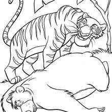 mowgli wolves coloring pages hellokids