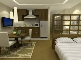 Studio Apartment 3d Floor Plans Apartment One Bedroom Apartment 3d Floor Plan With Small Balcony