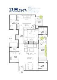 1200 sq ft house plan india 750 square feet 2bhk free house floor plan