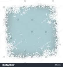 christmas snow background frame holiday winter stock vector